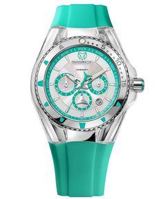 TechnoMarine Watch, Women's Swiss Chronograph Cruise Lipstick Blue Silicone Strap 40mm 112032