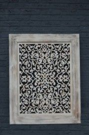 Wandpaneel Kemang 76x96 cm (101739)   PANELEN HOUTSNIJWERK   Woudhof Wonen & Meer