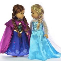 MamaCheaps.com: Disney Frozen American Girl Doll Clothes – Anna AND Elsa Outfits for 18″ Dolls – $20 Each SHIPPED