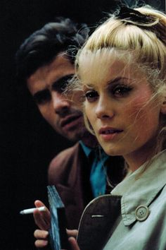 Nino Castelnuovo and Catherine Deneuve in 'The Umbrellas of Cherbourg', 1964, directed by Jacques Demy.