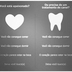 Paixão ou dor de dente?Para dores de dente consulte-nos! Bianchi Odontologia…
