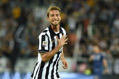 Claudio Marchisio of Juventus FC celebrates a goal during the Serie A match between Juventus FC and Udinese Calcio at Juventus Arena on September 13, 2014 in Turin, Italy.
