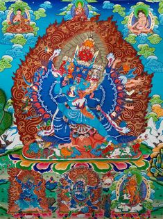 1:1 Copy of origin Thanka painting! Carrier :silk fabric, Note: origin work order or Tibetan scroll mounting, please contact : info@myadornart.com