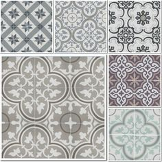 Suelo de baldosa hidráulica | Estilo Escandinavo Cemento Portland, Best Flooring, House Tiles, Mosaic Tiles, Tiling, Tile Patterns, Tile Floor, Kitchen Design, New Homes