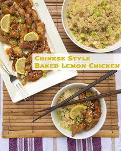 Chinese+Style+Baked+Lemon+Chicken+|+Teaspoonofspice.com