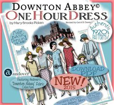 DOWNTON Abbey Dress Pattern 1 Hour Dress Pdf by eVINTAGEpatterns
