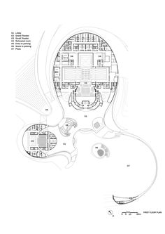 Image 29 of 34 from gallery of Harbin Opera House / MAD Architects. First Floor Plan