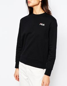 Image 3 of Fila Oversized Boyfriend Sweatshirt With Small Logo