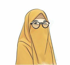 Girl Cartoon, Cartoon Art, Anime Muslim, Hijab Cartoon, Cute Love Pictures, Manga Illustration, Photo Wallpaper, Islamic Art, Art Girl