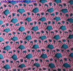 Diadem Lattice crochet stitches pattern
