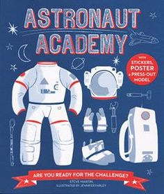 """#Awardwinning book Astronaut Academy won the Eureka! Nonfiction Children's Silver Book Award """"mimic the physical and mental challenges involved in real-life training to become an astronaut on a mission to Mars, ,,,"""" #activitybooks #childrensbooks #jobs"""