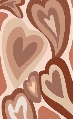 Hippie Wallpaper, Brown Wallpaper, Trippy Wallpaper, Heart Wallpaper, Iphone Background Wallpaper, Iphone Wallpaper Tumblr Aesthetic, Aesthetic Pastel Wallpaper, Aesthetic Wallpapers, Images Murales