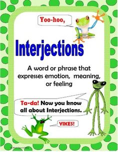 Interjection Activity for whole class, small groups, or independent literacy station work during guided reading. Students will identify the interjection in each sentence and record it on the recording sheet. Next write sentences using interjections. This is common core and you are probably missing it.File includes an Anchor Chart, task cards and task pages, Wow!