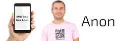 The QR Code T-Shirt for Men Seeking #GayAnonymousSex #NewGayCode