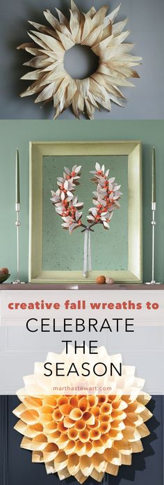 Before you invite winter (and all its accessories) into your home, these fall wreaths will keep your front door festive.