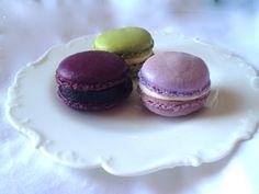 Aubergine, lilac  pistachio macaron by 'Designer Cakes by Elle'