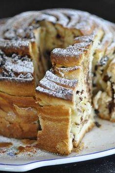 recette dessert し brioche roulée aux pépites de chocolat ou aux pommes (thermomix ou pas) recept
