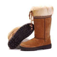 Charming Women UGG Ultimate Cuff 5273 Chestnut Boots At Zonedout. Kids Ugg Boots, Ugg Boots Sale, Ugg Boots Cheap, Snow Boots, Tall Boots, Classic Ugg Boots, Ugg Classic, Sheepskin Ugg Boots, Uggs For Cheap