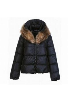aa3bf557ab05 Moncler Sauvage Fur Collar Down Jacket Black Women -   off discount code   happywinter www.pn warm winter