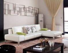 9005 Contemporary White Leather Sectional Sofa