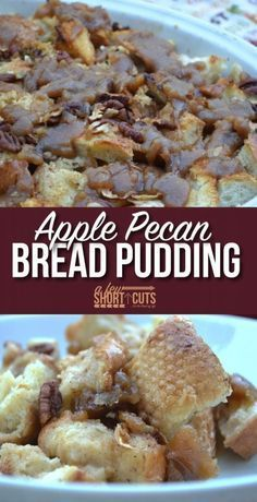 One of my favorite fall recipes! This Apple Pecan Bread Pudding recipe puts a smile on everyones faces!