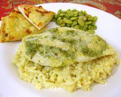 Pesto Chicken and Creamy Rice