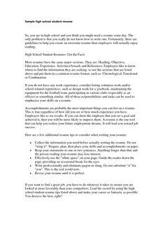 resume samples for high school students flickr photo sharing httpwww. Resume Example. Resume CV Cover Letter