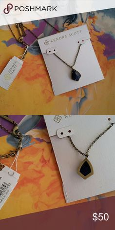 "Kendra Scott CORY Necklace Blue Lapis Cory NWT. Chain is 18"" w/2"" extender. Precious! Kendra Scott Jewelry Necklaces"