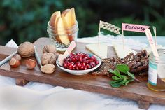 winter cheese plate ideas for a happy happy hour. Love washi tape for cheese markers!