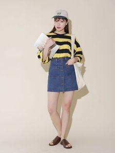 Dress Up Confidence! Global Young Girls Trendy Style Maker 66girls.us Denim Patch Pocket Skirt (DHCZ) #66girls #kstyle #kfashion #koreanfashion #girlsfashion #teenagegirls #fashionablegirls #dailyoutfit #trendylook #globalshopping