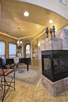 1000 images about 3 way fireplace on pinterest for Three way fireplace