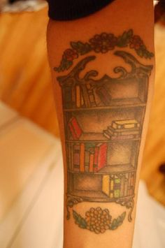 If I got a tattoo of a bookshelf, it would be overflowing with books!