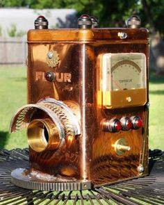 Vintage Flour Kitchen Canister and Gadget parts come to create an Upcycled Bird House!