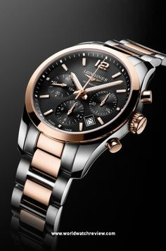 Longines Conquest Classic Chronograph in rose gold and steel