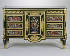 MARTIN CARLIN (1730-85) Commode (commode à vantaux) 1778 Oak, ebony, pietra dura, gilt bronze, marble | 94.8 x 152.2 x 58.3 cm (whole object) | RCIN 2588