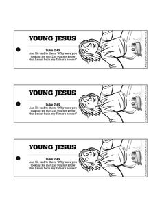 Jesus As A Child Bible Bookmarks The Luke 239 52 Story Of