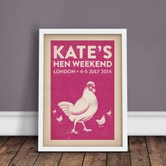 the hen party, personalised print by ink & sons - personalised prints | notonthehighstreet.com