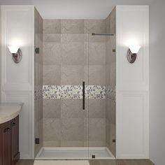 DreamLine Aqua 48 In X 58 In Frameless Pivot Tub Shower Door In Chrome SHDR