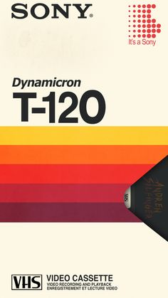 Sony Dynamicron Video Cassette : By Andrew Salfinger It's a blast from the past with this 1982 Sony Dynamicron Video Cassette with… Retro Graphic Design, Graphisches Design, Graphic Design Inspiration, Logo Design, Vintage Ads, Vintage Posters, Retro Packaging, 80s Aesthetic, Cassette