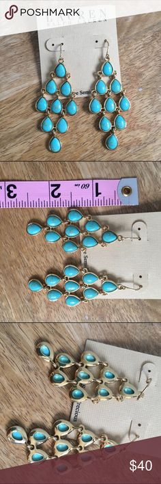 Lauren Ralph Lauren turquoise chandelier earrings Lauren Ralph Lauren turquoise chandelier earrings. Gold hardware, fish hook. Received as a gift but not my style! Lauren Ralph Lauren Jewelry Earrings