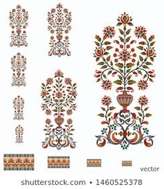 Find Mughal Flower Motif Bunch Design White stock images in HD and millions of other royalty-free stock photos, illustrations and vectors in the Shutterstock collection. Islamic Motifs, Islamic Art Pattern, Mandala Pattern, Pattern Art, Print Patterns, S8 Wallpaper, Flower Wallpaper, Illustration Blume, Illustration Sketches