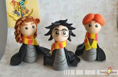 Chibi trio and Chibi Potters Collection by IdeasInColdPorcelain