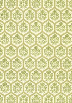 Caton #print #fabric in #green from the Richmond collection. #Thibaut