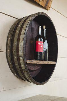 banded wine barrel shelf by alpine wine design alpine wine design outdoor finish wine barrel