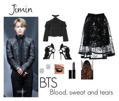 """BTS Blood sweat and tears outfit"" by vanillajams on Polyvore featuring Alice + Olivia, Dsquared2, Witchery and Bloomingdale's"