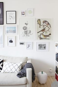 Scandinavian living room with colourful gallery wall | Lovely Life via Do You Fancy This