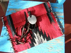 Red Black Navajo Fringe Blanket Native IPad Cover by TribalZen, $49.99