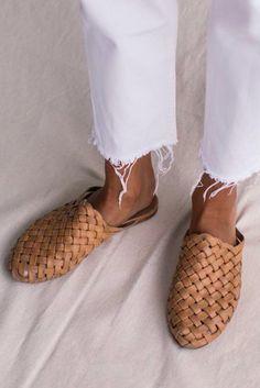 Bunto Woven Loafers - Tan