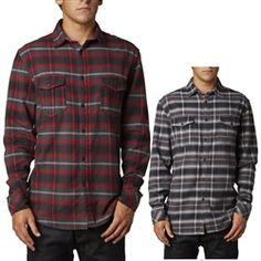 2013 Fox Racing Boomer Woven Long Sleeve Casual Motocross Adult Apparel Shirts