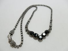 Vintage Necklace / Collar / Choker GLASS Clear  & by KathiJanes, $19.95